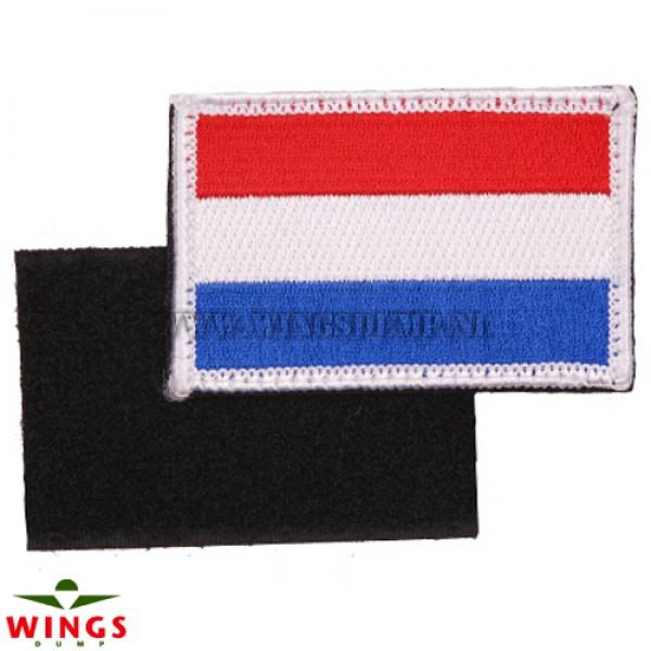 Embleem stof NL vlag velcro 80x50