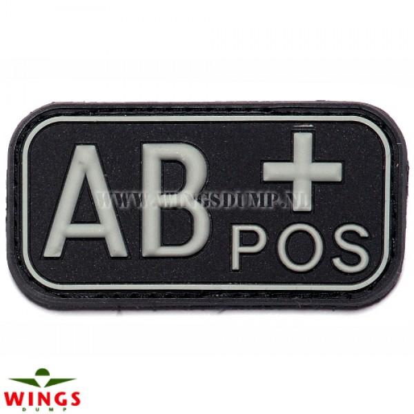 Embleem 3D pvc zwart AB-pos