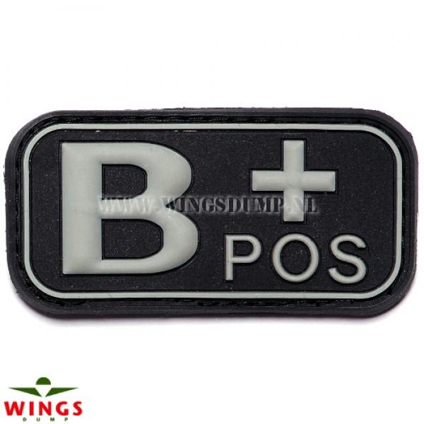 Embleem 3D pvc zwart B-pos