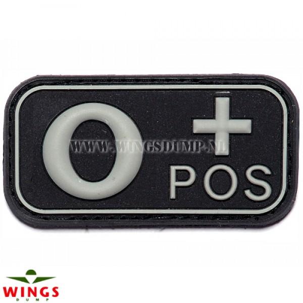 Embleem 3D pvc zwart O-pos