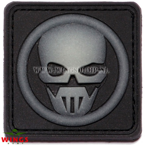 Embleem 3D pvc ghost skull