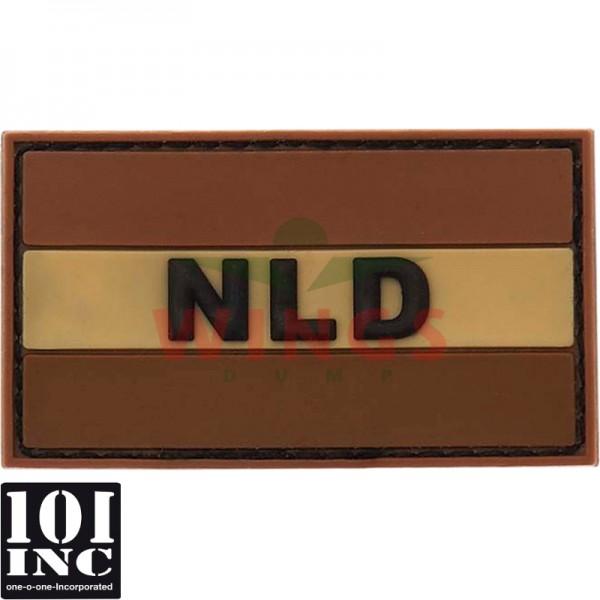 Embleem 3D pvc Nederland NLD tan