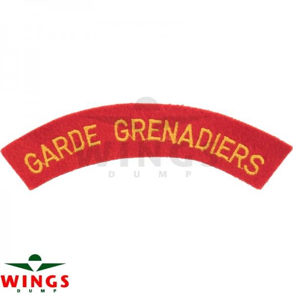 Embleem naamlint Garde Grenadiers