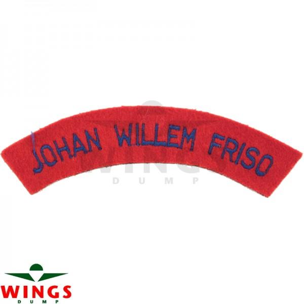 Embleem naamlint Johan Willem Friso gebogen