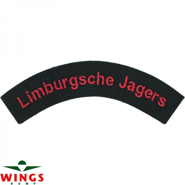 Embleem naamlint Limburgsche Jagers gebogen
