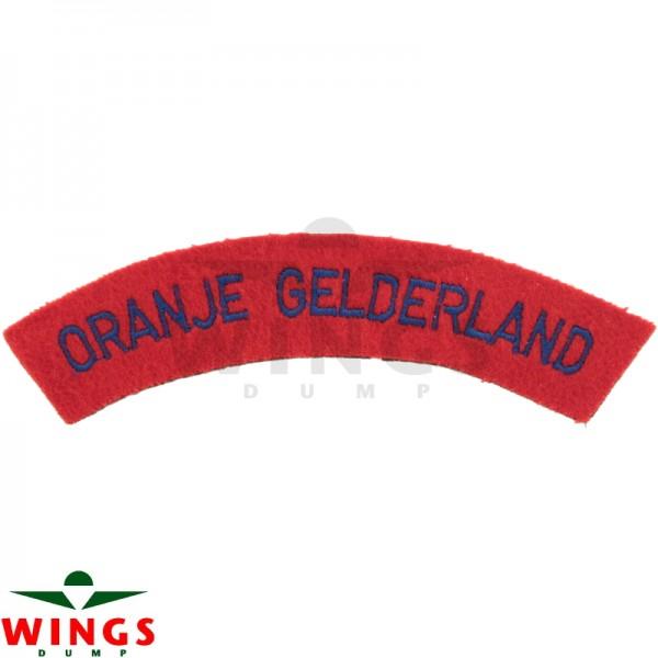 Embleem naamlint Oranje Gelderland gebogen