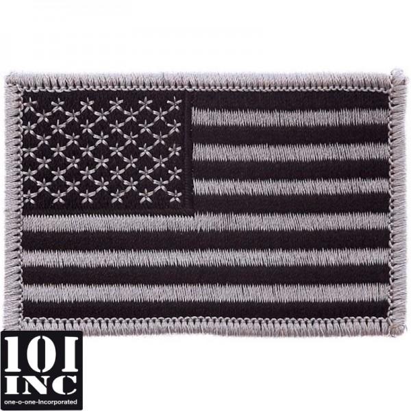 Embleem stof U.S.A. subdued grey 75x50 mm