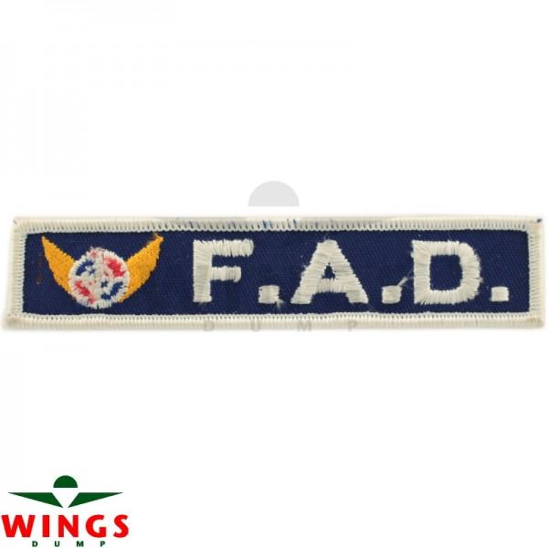 Embleem F.A.D. logo sign