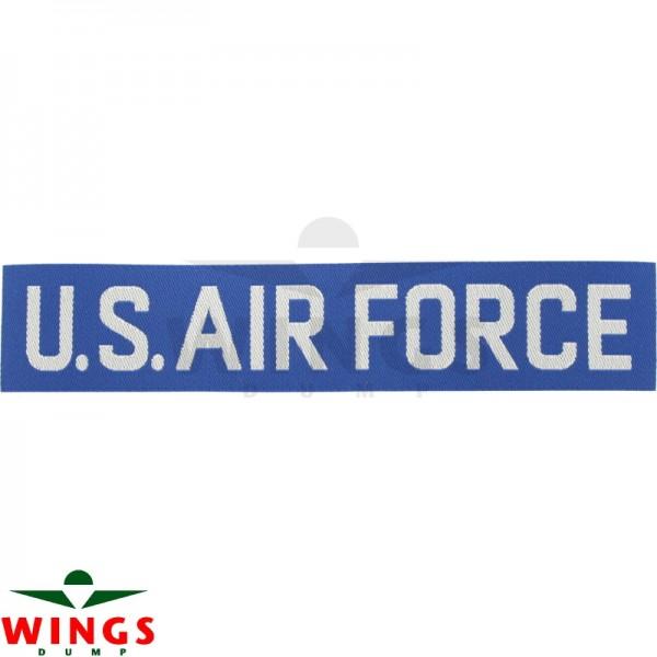 Embleem naamlint U.S. Air Force blauw-wit