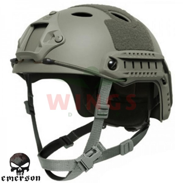 Emerson helm model Fast groen