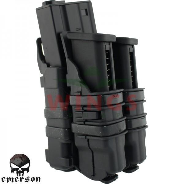 Emerson rifle en 2 pistol magpouch zwart
