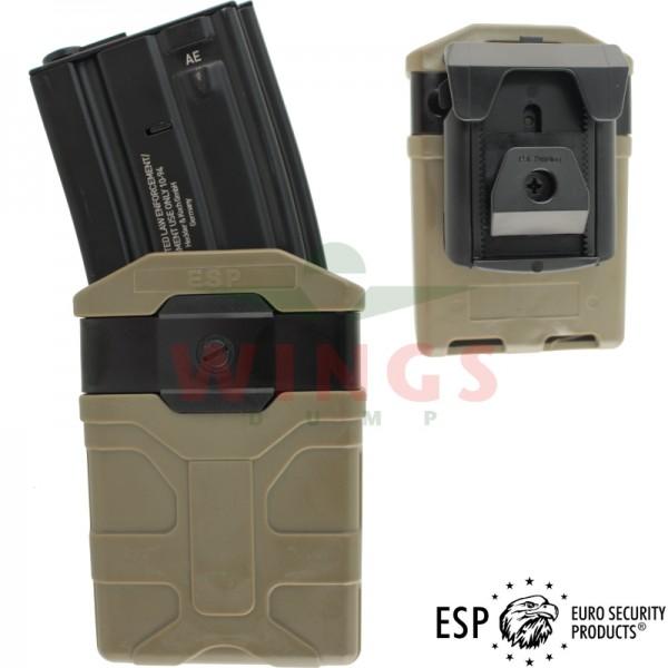 ESP beltclip magazijnhouder voor M4 tan