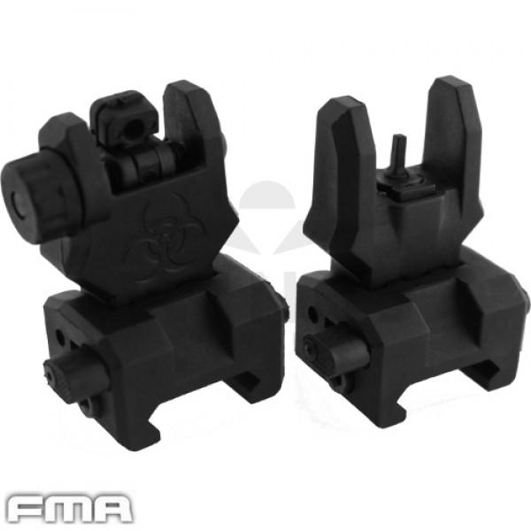 FMA flip up front en back sight black gen. 3