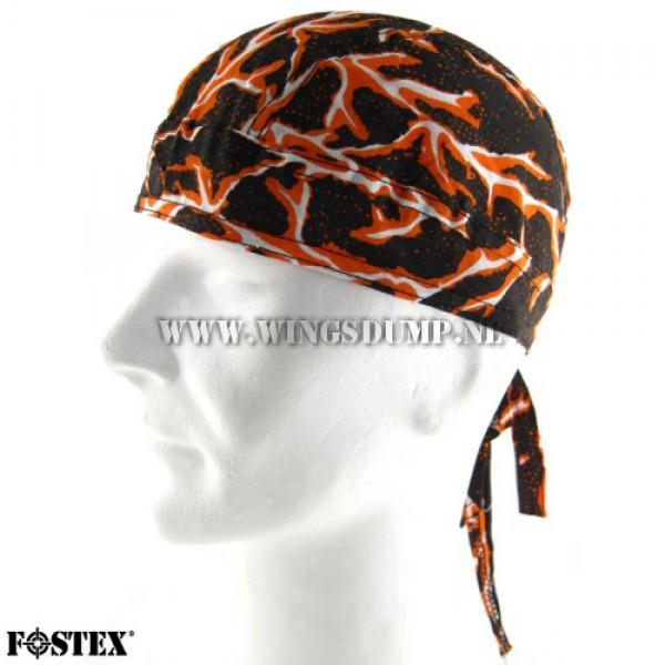 Bandana cap lightning orange