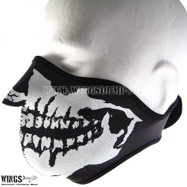 Bikermask half face skull mouth only