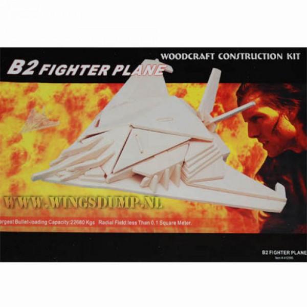 Houten bouwpakket B2 fighterplane