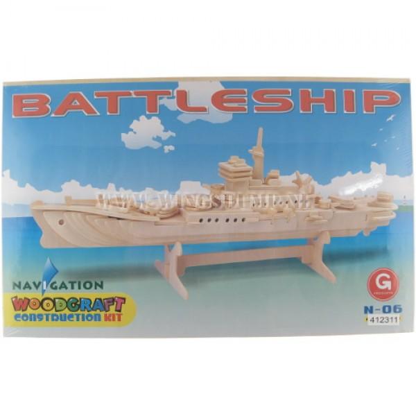 Houten bouwpakket Battleship