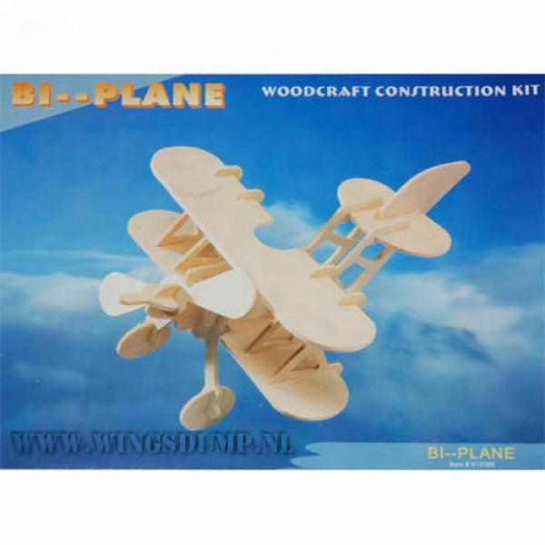 Houten bouwpakket Bi-plane