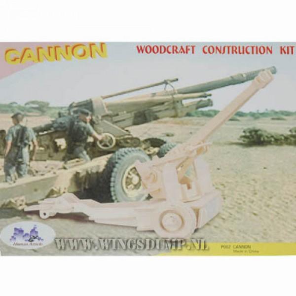 Houten bouwpakket Cannon