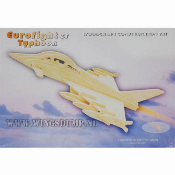Houten bouwpakket Eurofighter
