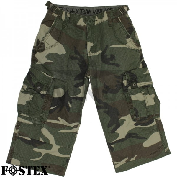 Kinder driekwartbroek washed camo