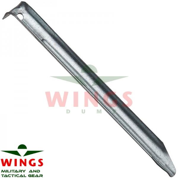 Grondpen aluminium 18 cm.