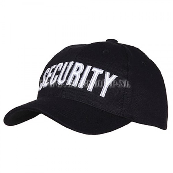 Cap security zwart