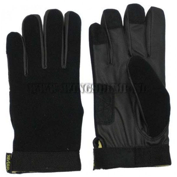 Handschoen kevlar/neopreen zwart