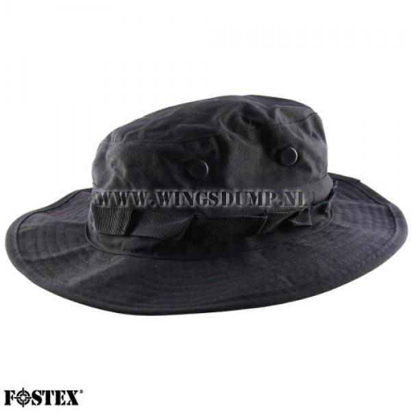 Bush hoed ripstop zwart