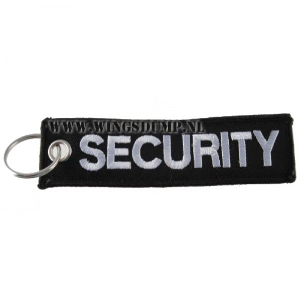 Label sleutelhanger security