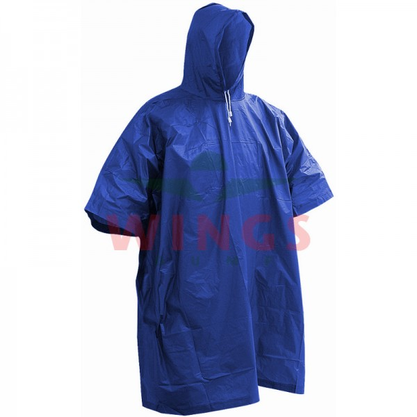 Poncho lightweight blauw