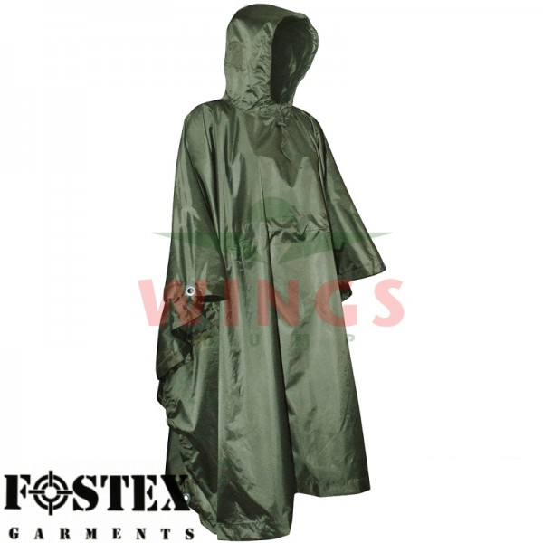 Poncho ripstop groen