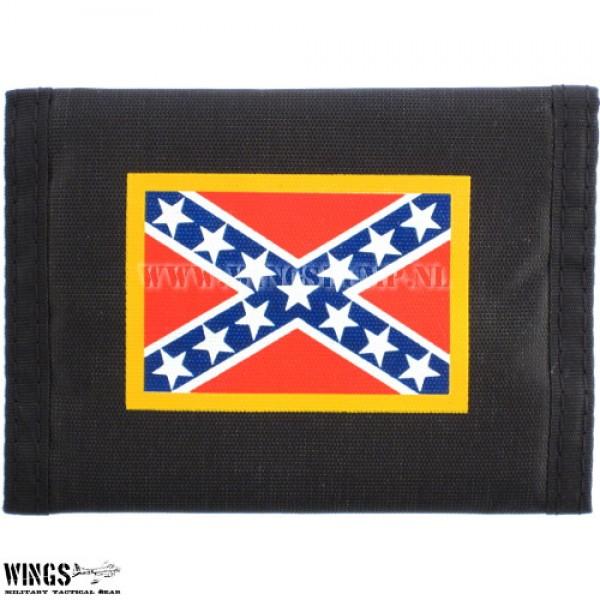 Portemonnee nylon zwart Rebelvlag