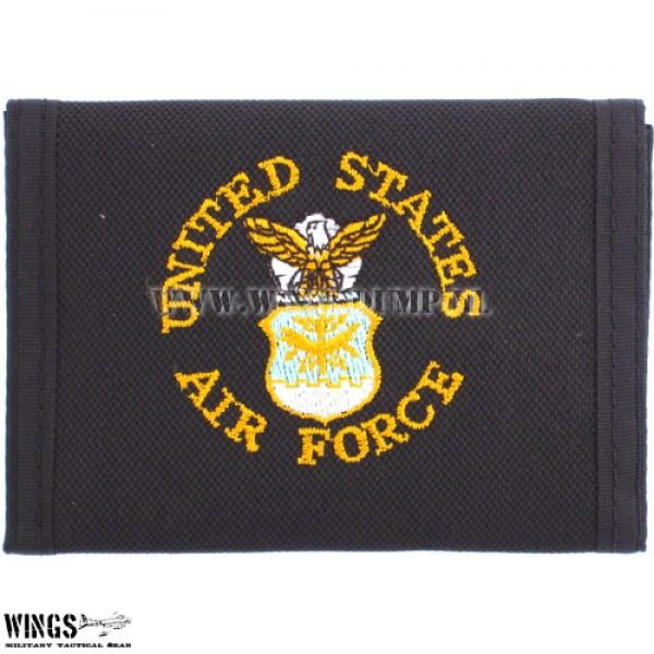 Portemonnee nylon zwart US air force