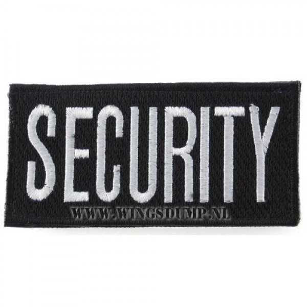 Embleem security met velcro