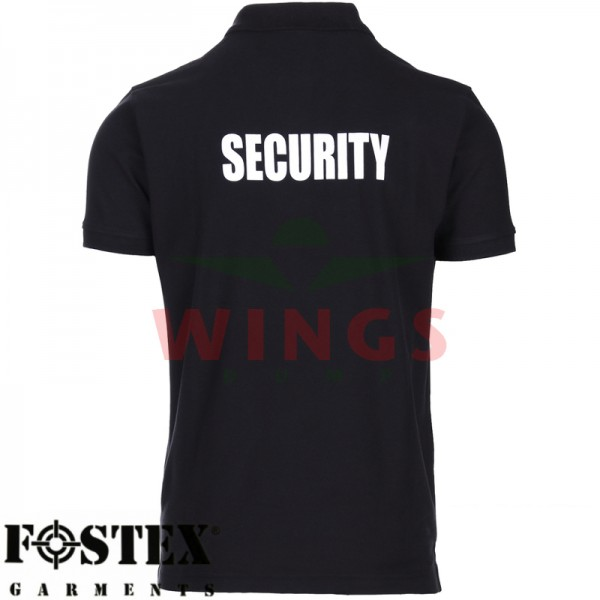 Poloshirt zwart security