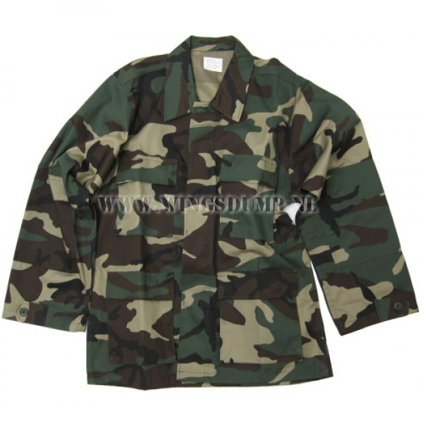 Bdu Overhemd woodland camo