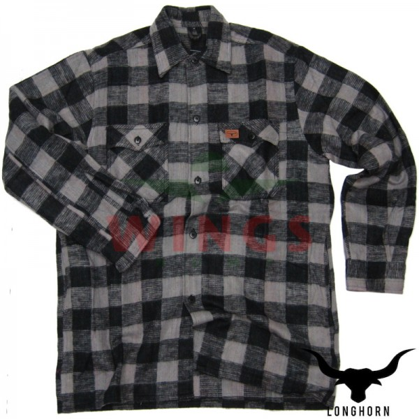 Canada hemd grijs zwart
