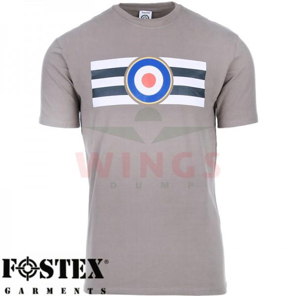 T-Shirt grijs met U.S.A. RAF logo
