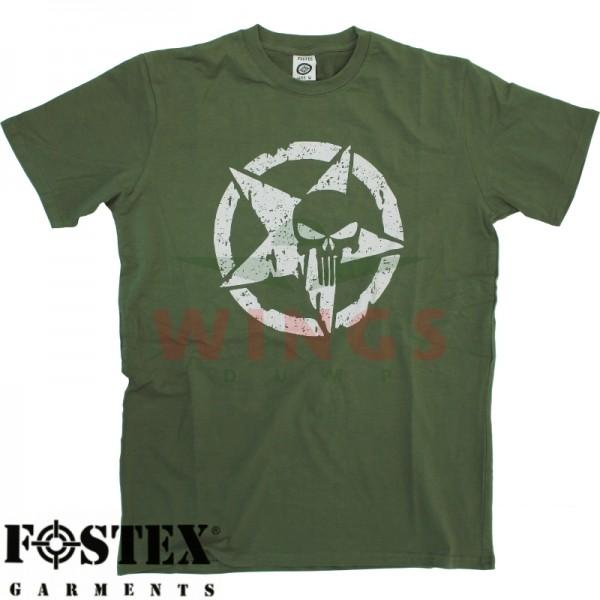 T-Shirt groen star punisher
