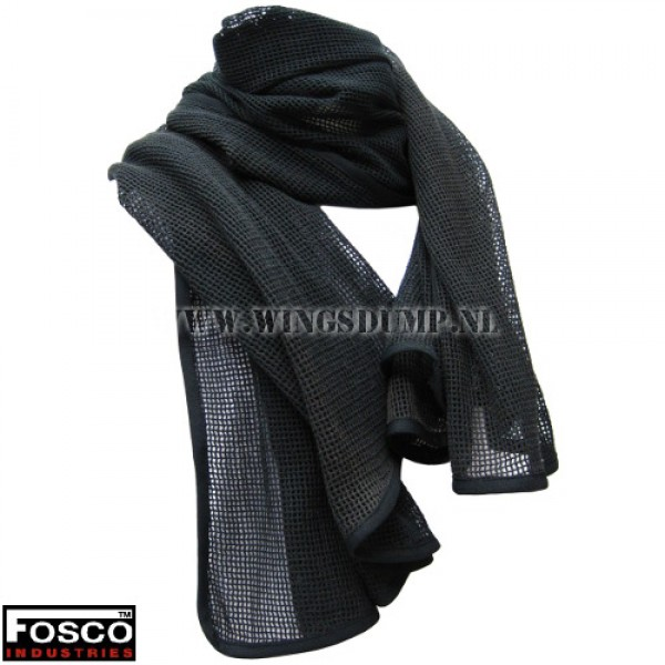 Net sjaal groot zwart