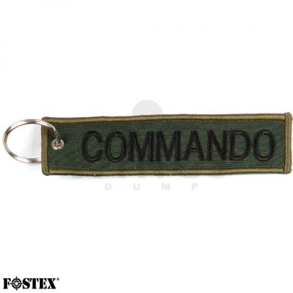 Label sleutelhanger Commando groen