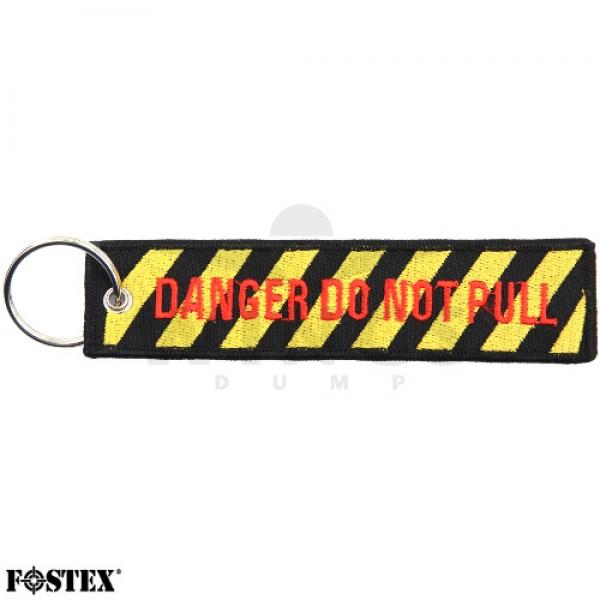 Label sleutelhanger Danger Do Not Pull