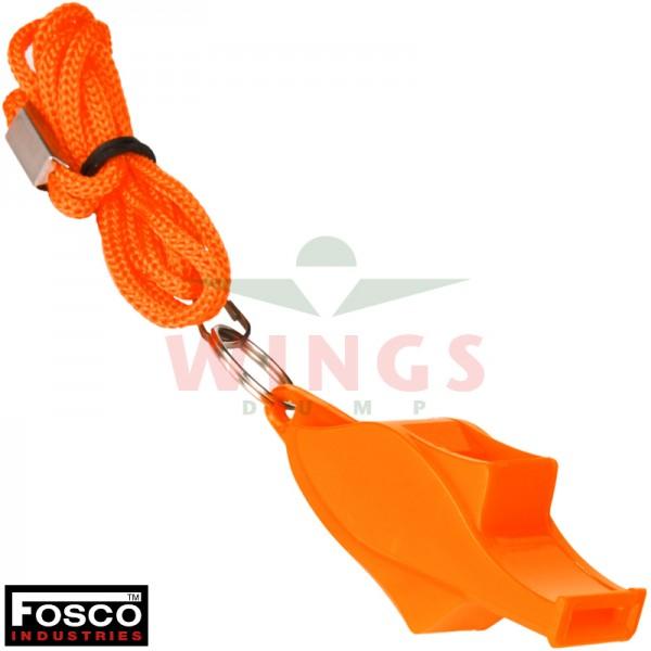 Fluit kunststof oranje met hoge tonen