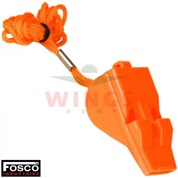Fluit kunststof oranje pealess