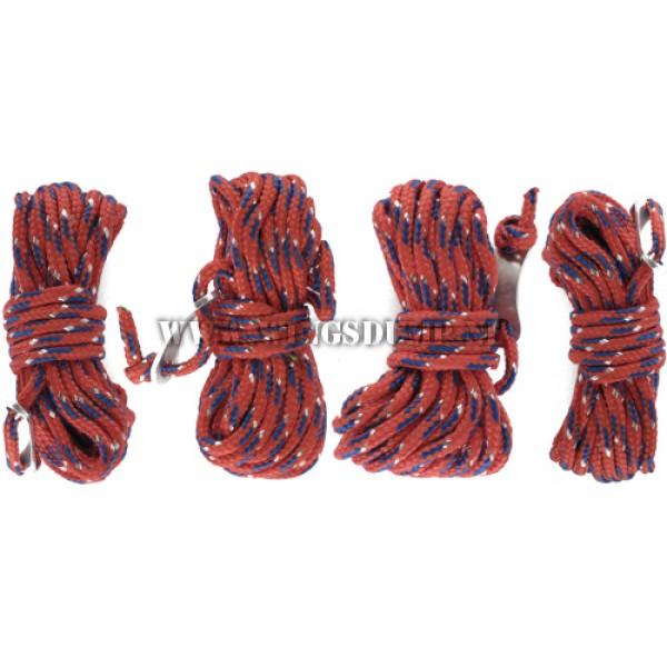 Scheerlijn set nylon rood