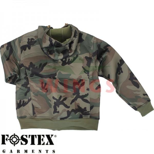 Neoprane hooded vest camouflage