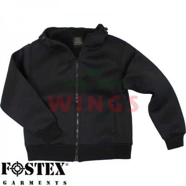 Neoprane hooded vest zwart