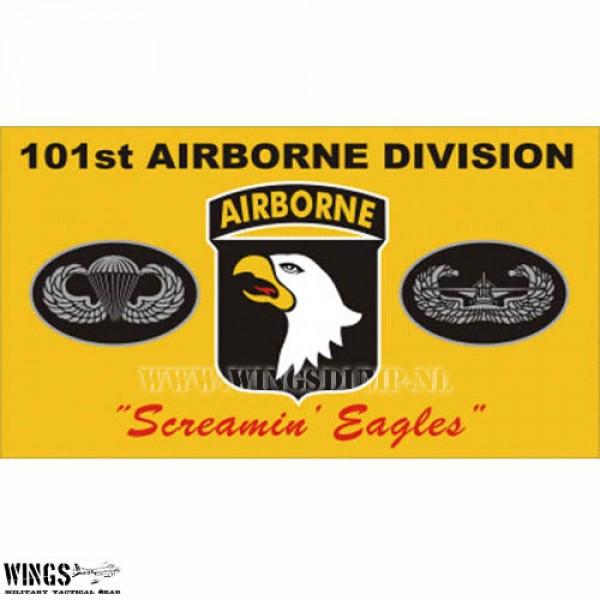 Vlag 150 x 100 cm. Airborne 101 geel