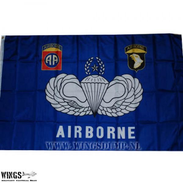 Vlag 150 x 100 cm. Airborne blauw